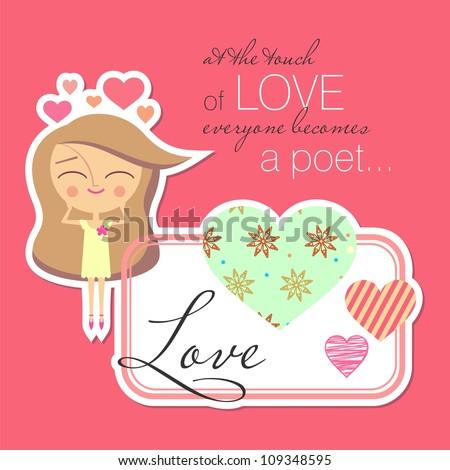 Valentine card design (raster version)