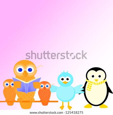 valentine card with  birds in love