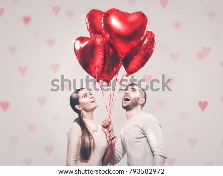 valentine couple. portrait of...