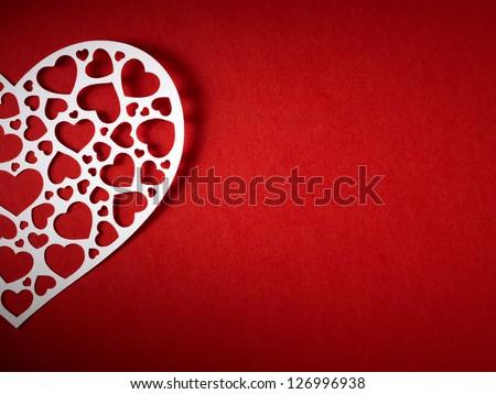 Valentine day card paper cutting design, papercraft.