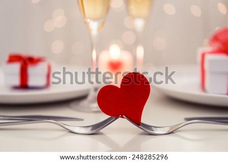 Valentine' day dinner #248285296