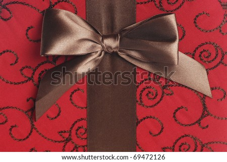 Valentine decorations and background - stock photo