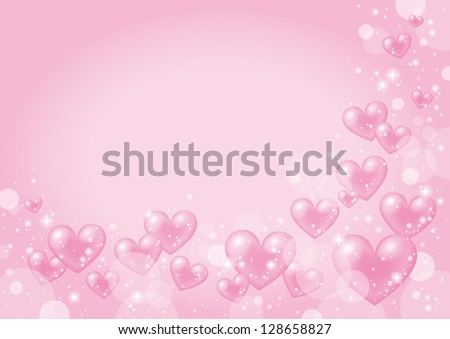 Valentine Design with pink heart