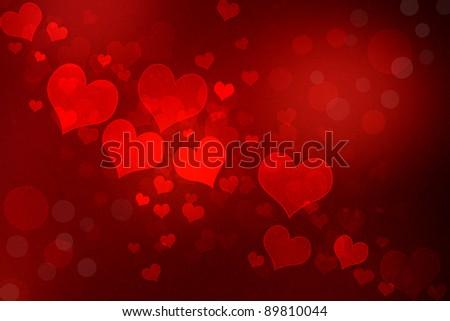 Valentine grunge heart shaped lights background stock photo