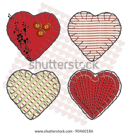 Valentine heart for girls who love sewing and needlework