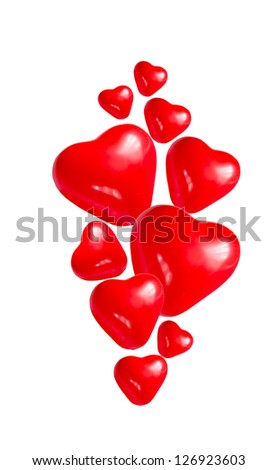Valentine heart on a white background
