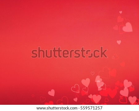 Valentine Hearts Background using for Wallpaper, Valentines Red Abstract Wallpaper, Free Space for Text #559571257