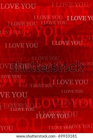 Valentine i love you background