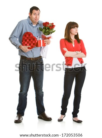 stock photo: apologtic valentine man