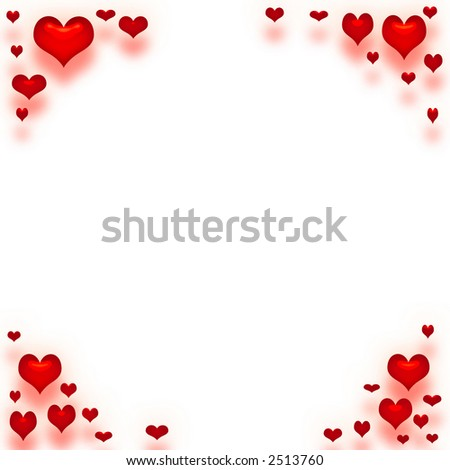 valentine paper framed in red hearts #2513760