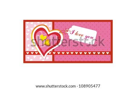 Valentine's card. Valentine's background