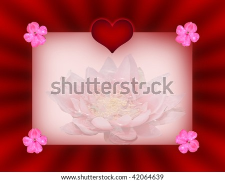 Valentine's card with flowers and space for text