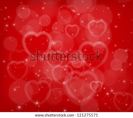 Valentine's day abstract background with heart shapes
