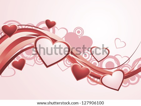Valentine's Day Background. Vector version also available in gallery.