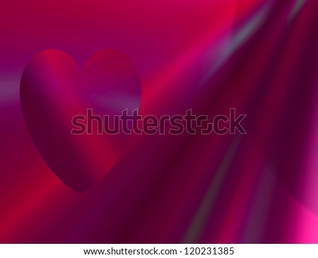 Valentine's Day background, with an inlaid heart from a different perspective. Suitable for St. Valentine's Day cards, a Spring or Summer theme, or for birthday cards and other romantic celebrations.