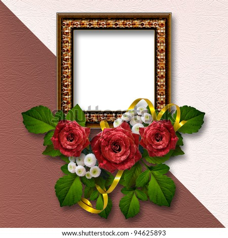 Valentine's day background with frames for photo.