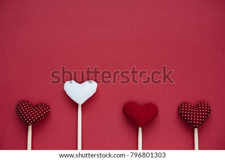 Valentine 's Day background with hand made hearts #796801303