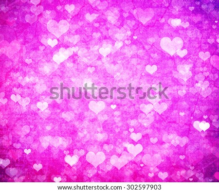 Valentine's day background with hearts #302597903