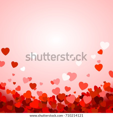 Valentine's day background with hearts. illustration #710214121