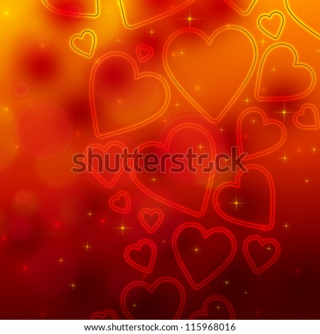Valentine's day background with many hearts