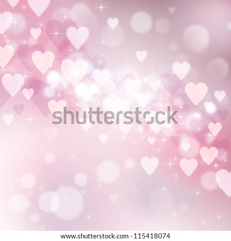 Valentine's day background with many pink hearts