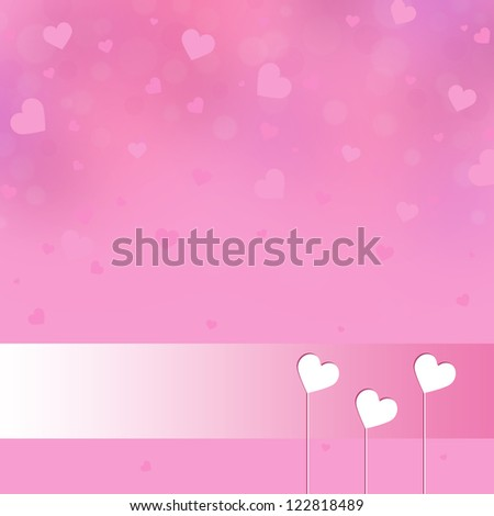 Valentine's day background with white hearts
