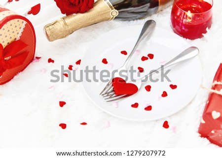 Valentine's Day. Beautiful background greeting card with a rose. Selective focus. Holiday. #1279207972