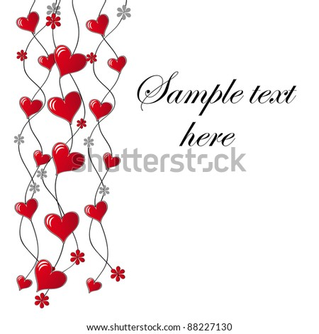 Valentine`s day card in Raster version