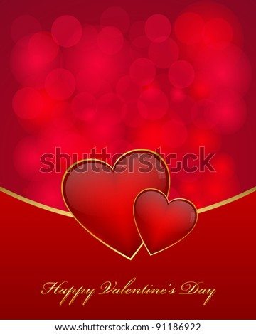 Valentine's day card. Vector available.