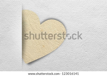 Valentine's day card with Heart Paper texture background