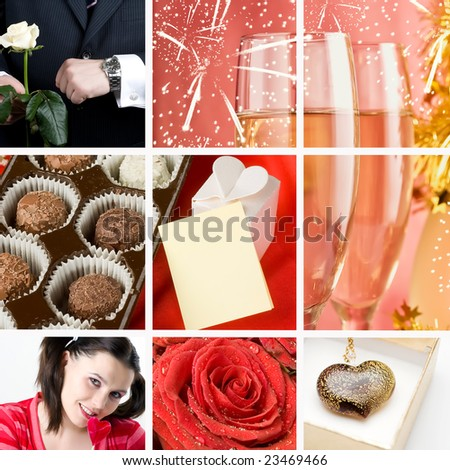 Valentine`s day collage