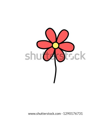 Valentine's Day, flower icon. Element of color Valentine's Day signs for mobile concept and web apps. Detailed Valentine's Day, flower icon can be used for web and mobile