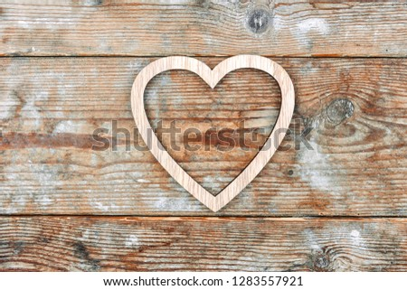 Valentine's Day. heart on old wooden background  #1283557921