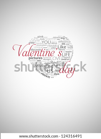 Valentine's day heart typography