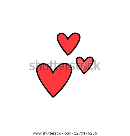 Valentine's Day, hearts icon. Element of color Valentine's Day signs for mobile concept and web apps. Detailed Valentine's Day, hearts icon can be used for web and mobile
