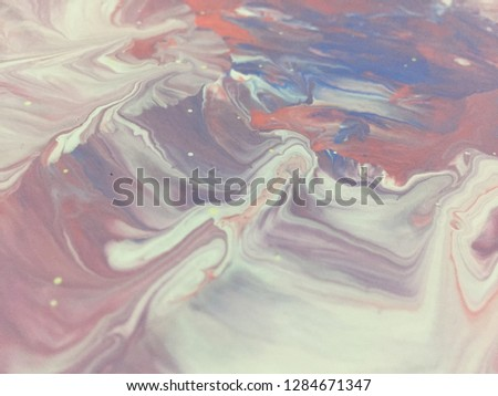 Valentine's Day Holidays Pink And Red Colors Background Abstract Art Acrylic Painting Texture Background #1284671347
