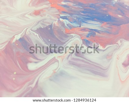 Valentine's Day Holidays Pink And Red Colors Background Abstract Art Acrylic Painting Texture Background #1284936124