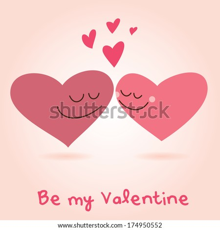 Valentine\'s Day lovely hearts kissing