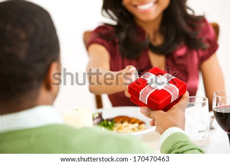 Valentine's Day: Man Gives Gift To Wife.