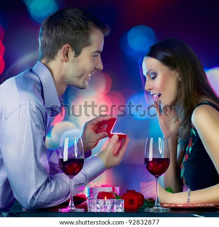 Valentine\'s Day. Marriage Proposal