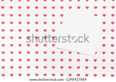 Valentine's Day postcard, concept of Valentine's, Valentine's Day Background.