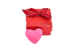 Valentine's Day Red Gift Box for Ring or Earrings