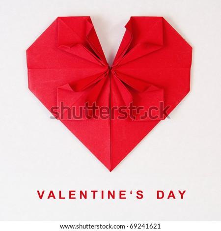 valentines origami. stock photo : Valentine#39;s Day