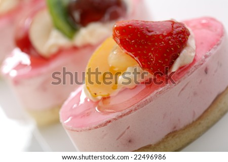 Valentine's day theme - Cake with fresh fruits