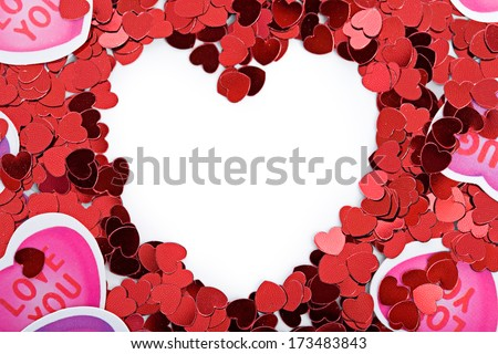 stock photo: heart valentine frame
