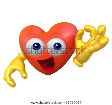 Valentine's mascot icon figure