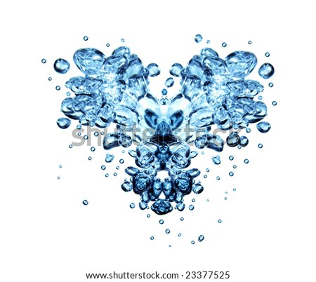 Valentine water bubbles