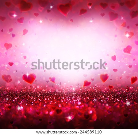 Photo of  valentines background with hearts flying