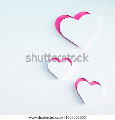 Valentines day card, light pink heart. Creative style image, illustration background. Print banner, book, cover, card, web, gift, invitation. 3D render #1007005033