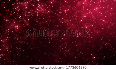 Valentines day, fresh love and festive togetherness on Christmas New Year or holiday event. Red tingly intimate festive abstract background concept and 3D illustrated art wallpaper. Stockfoto ©
